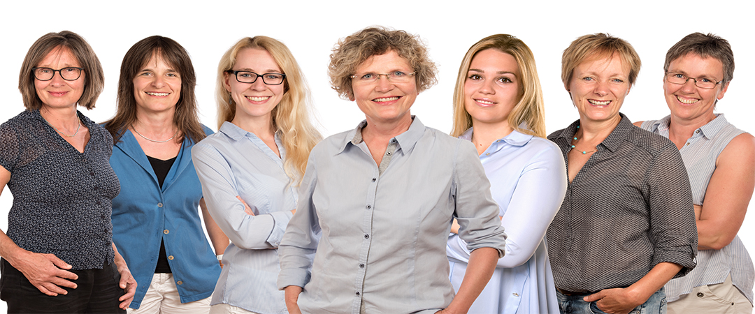Team der Praxis für Ergotherapie Brigitte Gleichauf